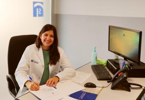 Dra. Katia Martínez - Signatura de'acord de col·laboració amb Clínica Salus Infirmorum