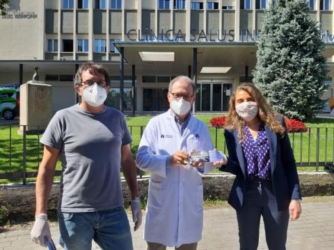 Els restaurants Vora Estany i La Carpa donen 150 tickets per a àpats als sanitaris de Clínica Salus